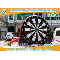 Quality Attrative Design Commercial Giant Inflatable Sport Games , Double Sides Inflatable Soccer Darts Board for sale