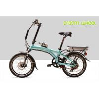 China Blue Folding Electric Bike Lightweight 36V 350W 32Km/H Pedals Assisted System on sale