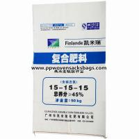 Quality Polypropylene Woven Fertilizer and Chemicals Packaging Bag Sacks with Flexo Printing for sale
