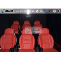 Quality 3 Seat 7D Cinema 7D Movie Theater Red Motion Rides With Pneumatic System for sale