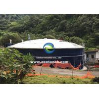 China Corrosion Resistant Glass Lined Water Storage Tanks With Roof 0.25 - 0.40mm Double Coating on sale