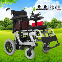 Buy Spray Steel Material Small Electric Wheelchair For Indoors Folding Function at wholesale prices