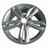Quality Alloy Car Wheel in Replica Design, with Silver Polish Surface Finish, Measures 17 x 6.5 Inches for sale