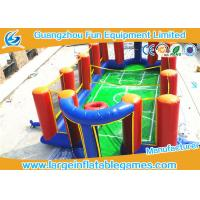 Quality Airtight Inflatable Football Playground Soap Soccer Field Court Shape For Beach Game for sale
