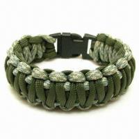Quality Paracord Bracelet with 7 Strand, Hold Up to 550lbs, for Hiking and Camping, M0Qis 50pcs for sale
