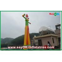 Quality 8m Yellow Inflatable Clown Dancer Double Legs Sky For Advertising for sale