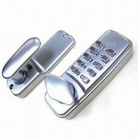Quality Push Button Code Door Lock with Satin Chrome-plated Finish for sale