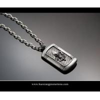 Quality silver shinny laser cut custom shape stainless steel dog tag for handbag for sale