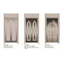 Quality Passenger Elevator Spare Parts SS Silver Automatic Elevator Doors Center Opening Type for sale