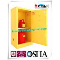 Quality Fireproof Steel Flammable Liquids Cabinet 15 Gallon For Hazmat Storage for sale