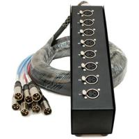 Buy 5M - 50M Snake Microphone Cables 8 way XLR male - female for Stage show / concert at wholesale prices