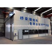Lightweight Prefab Factory Building , Customized Steel Structure Fabrication for sale