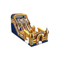 Quality Inflatable Egyptian pharaoh themed long high slide inflatable the egypt pyramid subject dry slide for sale