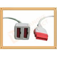 Quality 11 Pin To 11 Pin GE Dual IBP Cable / IBP Converter Cable 35CM for sale