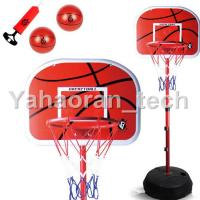Quality entertainment sport PVC/ABS 1500mm adjustable outdoor basketball stand with base for sale