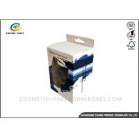 Quality Black / Blue Electronics Packaging Boxes Glossy Finishing With PVC Window for sale