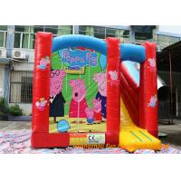 Quality Pappa Pig Inflatable Bouncy Castle For Kids / Blow Up Jump House for sale