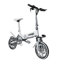 China Mini Portable Folding Electric Bike / Fold Up Electric Bicycle 36V7.8Ah 14 Inch on sale