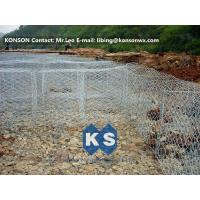 Quality Flexible Steel Wire Mesh Gabion Rock Baskets Mountain Protect Mesh 80mm x 100mm for sale