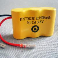 China Cleaner special rechargerable nicd battery pack SC 1500mAh*3/3.6v on sale
