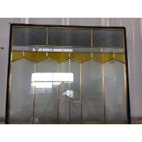 Buy Decorative beveled glass with brass came for sliding door at wholesale prices