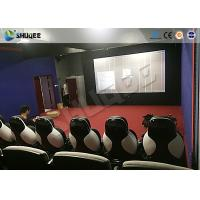 Quality 11D Movie Theater 11D Roller Coaster Simulator With Luxury Genuine Leather Seats for sale
