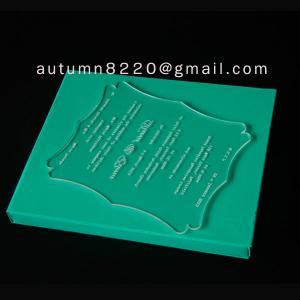Quality acrylic wedding invitation card for sale