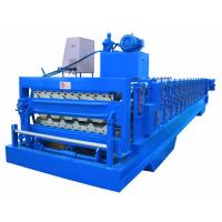 Quality Automatic PLC Frequency Control Double Layer Roofing Sheet Roll Forming Machine for sale