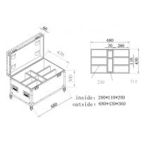 China Wooden / Aluminum Tool Cases Trolley Case For Moving Head Light Case on sale