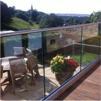 Quality Clear view frameless glass balustrade fittings with U base Channel for sale