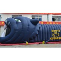 China 10m long white Sport event Inflatable Football Helmet  Entrance Tunnel with logo on sale