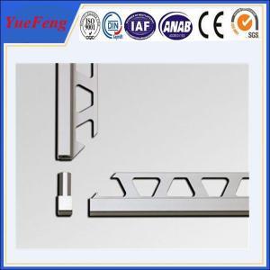 Quality OEM ceramic tile corner trim supplier, brushed aluminium trim profiles factory for sale