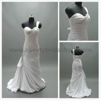 Quality Mermaid & Trumpet One Shoulder Ruffles Beading Satin Wedding Dress LT2192 for sale
