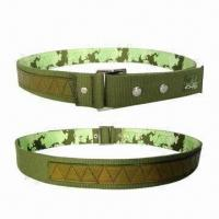 New Women's Cotton Webbing Belts with Snaps, OEM Orders Welcomed for sale