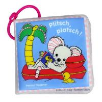 Quality Environmental Friendly Baby Bath Books Soft Touching Square Shaped SGS Assured for sale