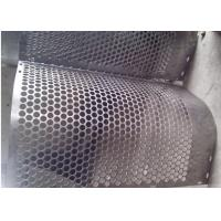 Quality Round Hole Shape Perforated Metal Sheet Zinc Coating 40 G HDG  Punching for sale
