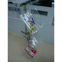 Quality 3 Mm 3 Tier Clear Acrylic magazine display rack Floor Stand for  retail shop for sale