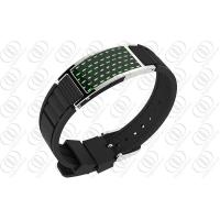 China Green Carbon Fiber Jewelry Magnetic Bracelet For Men / Women on sale