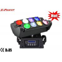 China 8*10W Quad-color RGBW / White Led Moving Head Lights , Moving Heads Lighting   X-68A on sale