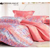 Quality Purified Cotton Floral Elegant Bed Set High Yarn Count With Reactive Printing for sale