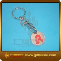 Quality plastic trolley coin keychain for sale