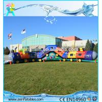 Quality Chuggy Choo Choo train bouncer inflatable tunnels for kids inflatable obstacle course for sale