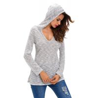 Buy cheap 100% Viscose Hooded Pullover Sweater , Jersey Knit Cute Fall Oversized Sweaters from wholesalers