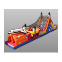 Quality Exciting Hand Painting Rock Inflatable Obstacle Course Sports Recreation City for sale