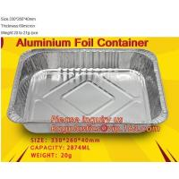 China Well Selling Catering Tray Fast Food Disposable Foil Container Aluminum Foil Container Aluminum Container BAGEASE PACKAG on sale