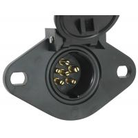 Quality Waterproof 6 Pin Trailer Electrical Socket Round European American Standard for sale
