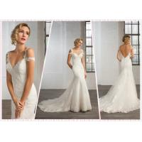 Quality Straps Lace Mermaid Low Back wedding dress #25 for sale