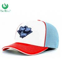 Buy cheap Eco - Friendly Custom Fitted Baseball Hats 2D Flat Embroidered Logo Advertising from wholesalers