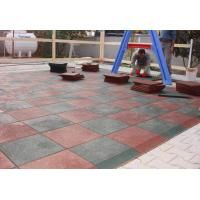 Quality Customized Playground Surface Tiles 1000x1000x(15-50)Mm Safety Large Size for sale