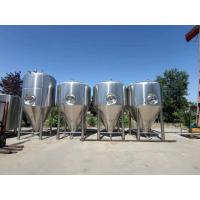 China 5000 L Cylindro Conical Fermenter Stainless Steel Fermentation Tank With Cooling Jacket on sale